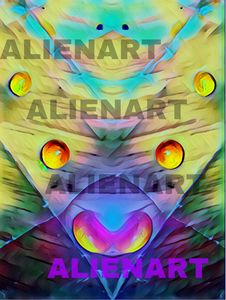 First Digital AlienArt Piece