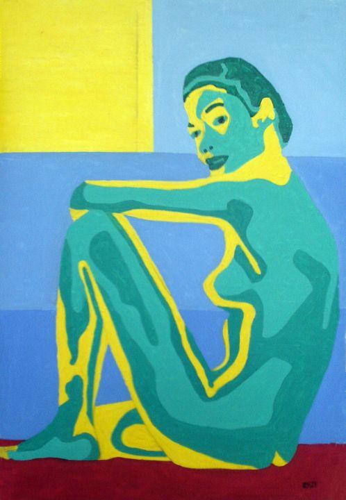Woman by Pool Under the Sun - Randall Steinke