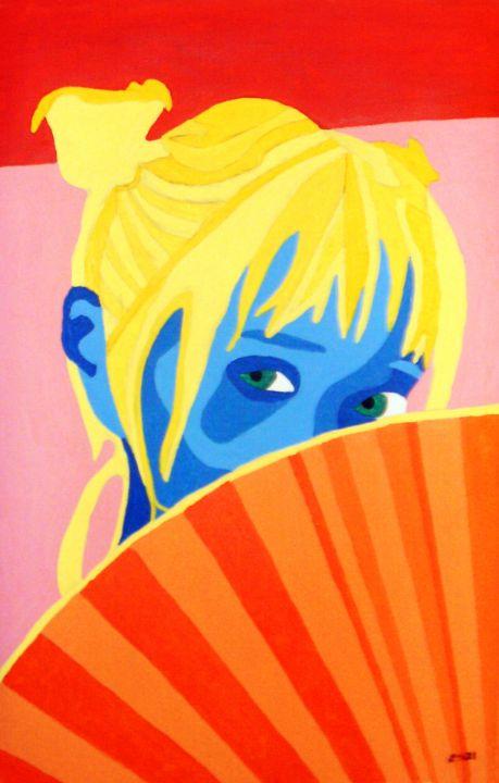Woman with Fan - Randall Steinke
