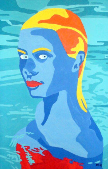 Woman in Pool - Randall Steinke