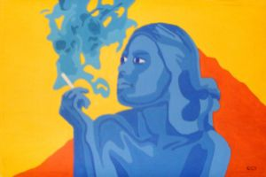 Smoking in Blue