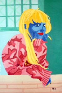 Woman in Red/Pink Sweater - Randall Steinke