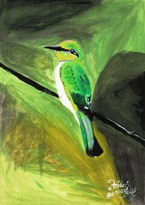 humming bird water color
