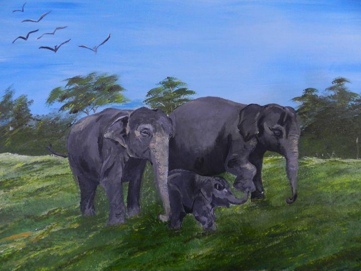 Elephant Family - art of mine