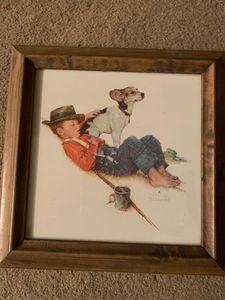 Boy Fishing/Sleeping/And His Dog
