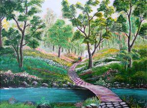 A walk in the woods - Vivek Choudhary's Art