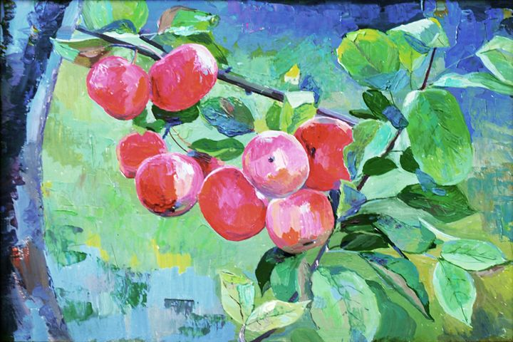 The Red Berries. 12'' x 8'' - WildPaints
