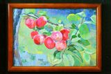 12 x 8 in. Red berries painting