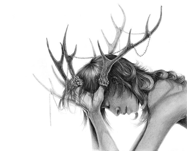 Antlers - grafithjarta