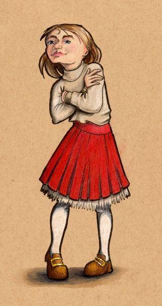 The red skirt - grafithjarta
