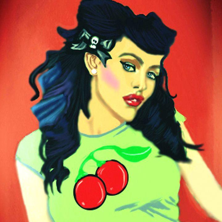 Retro Cherries - Soulful Art