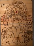 Original wood burned