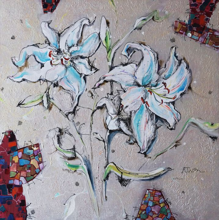 SILVER LILY PICTURE - Dariya Tumanova Art
