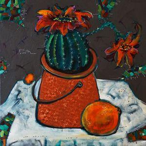 The cuctus and orange