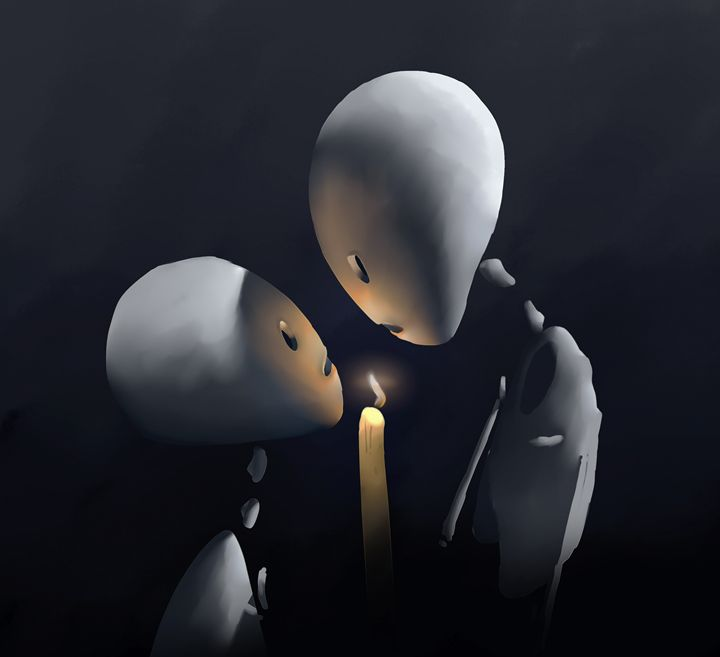 Twin Flames - Ali Ruhi Ozturk Illustration