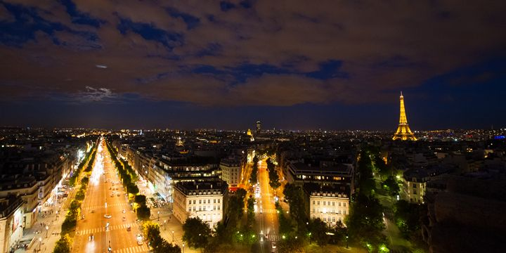 Paris from the Landscape  Canvas  Ph - Josh Milne Photography