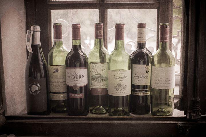 Bottles on Windowsill - Josh Milne Photography