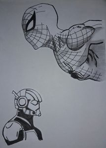 marvel world with black ink