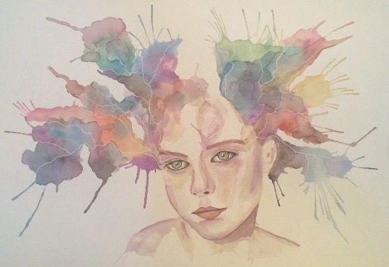 Watercolor girl - M. VICTORIA SAP