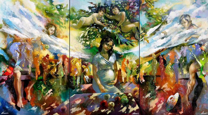Miracle(triptych).140X255.c.o.2015 - Ilhamart