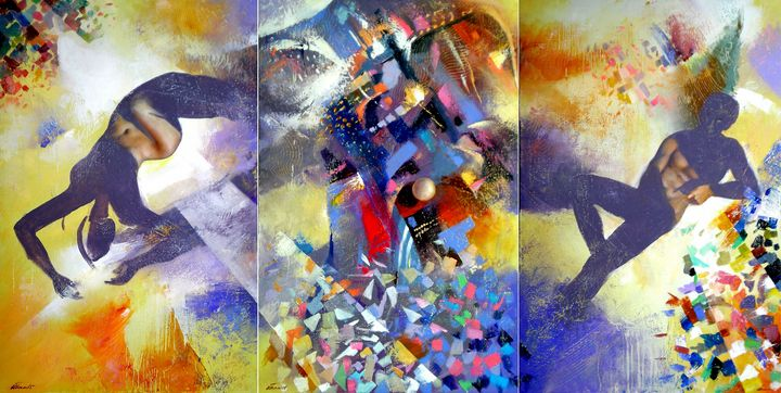 Point of view.(triptych).120X240 - Ilhamart