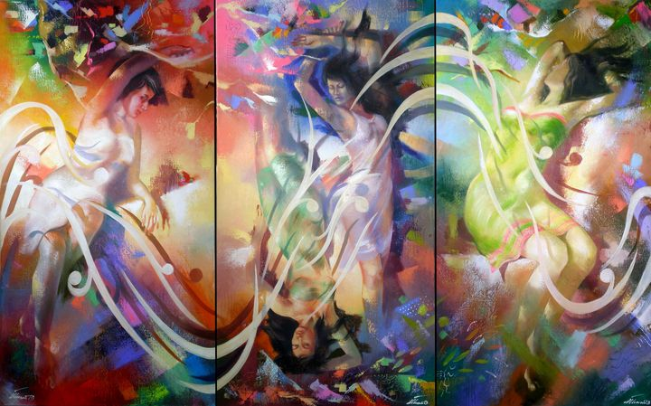 Plasticity in beauty.(triptych) - Ilhamart