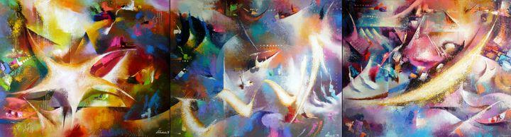 Particles.(triptych)90X330.c.o.2012 - Ilhamart