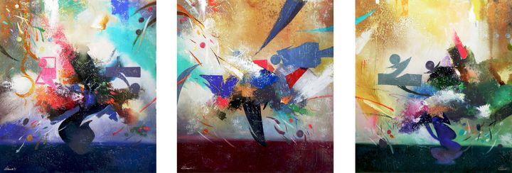 Flight.(triptych).105X285.k.y.b.2016 - Ilhamart