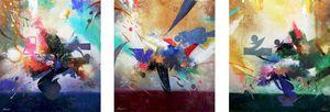 Flight.(triptych).105X285.k.y.b.2016