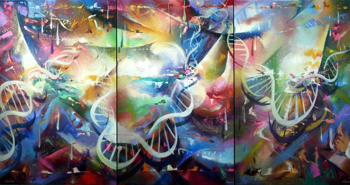 Genetics in the Universe.(triptych) - Ilhamart