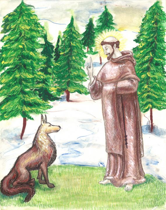 St. Francis and the Wolf - Working with Jesus