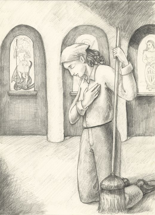 Joan cleans the church - Working with Jesus