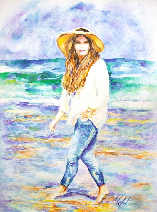 BAREFOOT on THE BEACH. - Liliya Chernaya