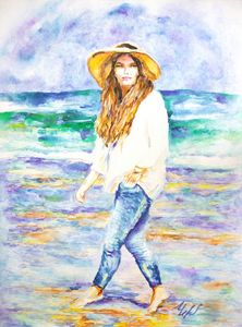 BAREFOOT on THE BEACH.