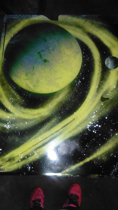 Green galaxy - INKteresting