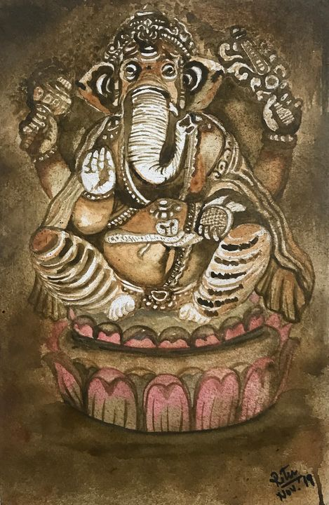 'Ganesha Ganesha, foremost hamesha' - Sai's Art
