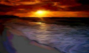 Evening Glow on the Beach