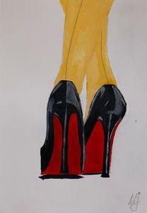 High heels painting