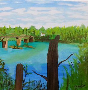 Rumbling Waters Bridge - Randy Maske Artist