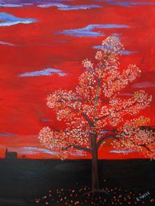 Fall Sunset - Randy Maske Artist