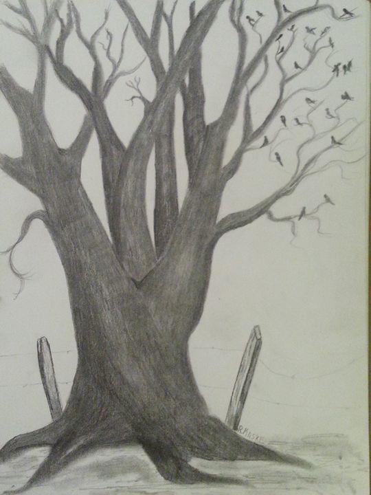 Tree full of Black birds - Randy Maske Artist