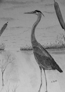 Untitled Heron - Randy Maske Artist