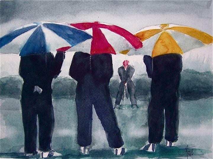 Wet Weather Gear - Original Watercolor Paintings