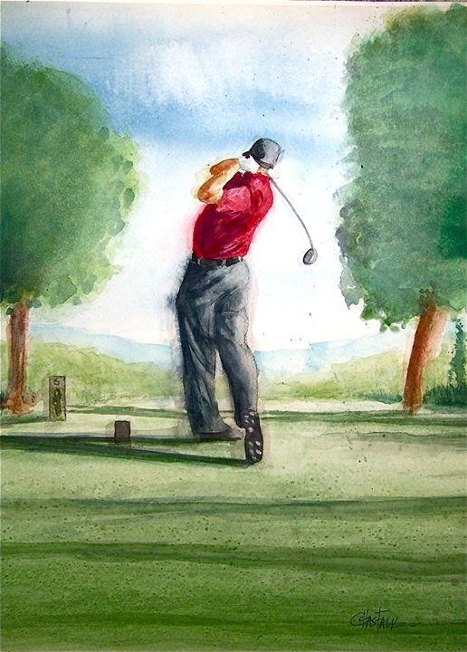 Woods Swinging - Original Watercolor Paintings