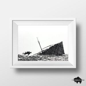 Sinking Ship No. 1 - Ink Drawing