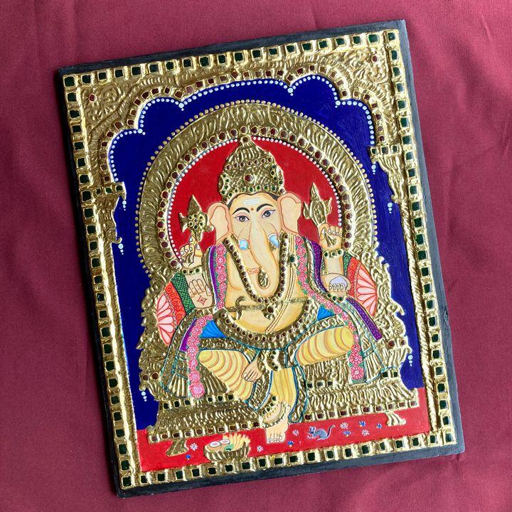 Ganesh Ji Tanjore Painting - Artnushkaaa