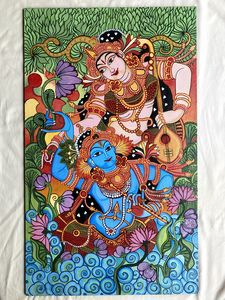Radha Krishna - Kerala Mural Paintin