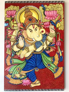 Ganesh Ji - Kerala Mural Painting