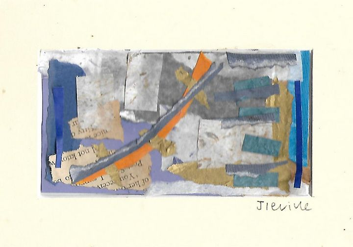 Mixed media collage 8 - Jess Levine Artist