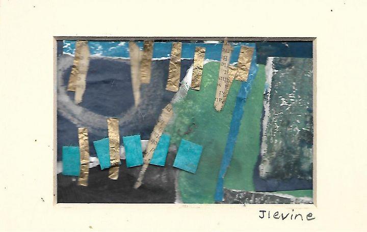 Mixed media collage 5 - Jess Levine Artist